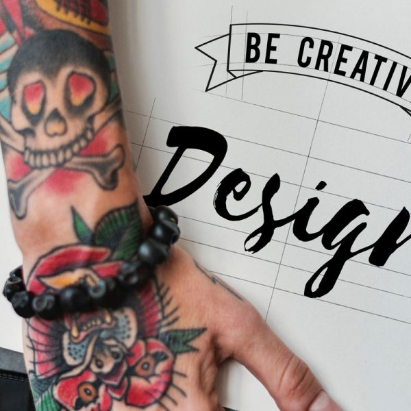 Be Creative Design Written on Book - Tattoo on Hand - WebGenWorld.com